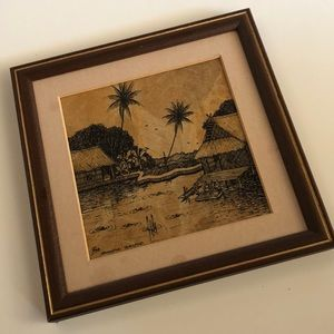 Vintage Banana Leaf Hut Picture- Thailand